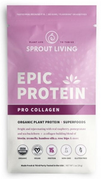Sprout Living Epic proteín organic Pre Collagen 28g